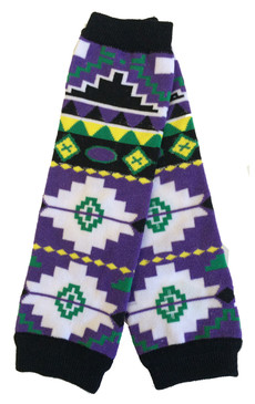 Purple Aztec Baby Toddler Leg Warmers