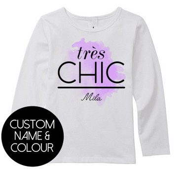 Personalised Très Chic long top // PURPLE - Mila