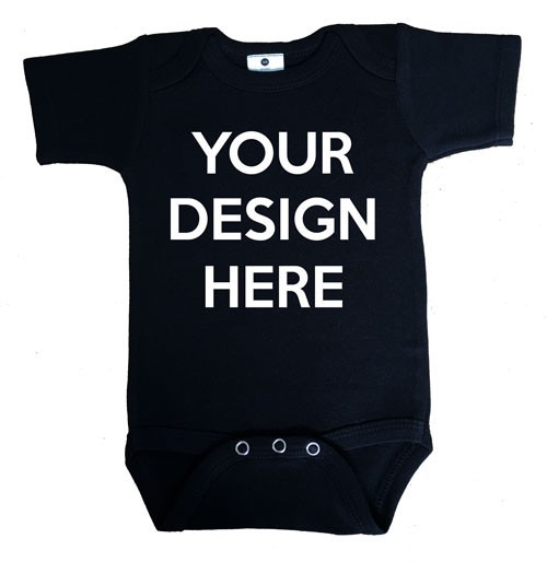 a6858085a DESIGN YOUR OWN black onesie | Personalised Baby Clothing | Word On Baby