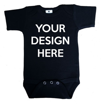 DESIGN YOUR OWN black baby onesie