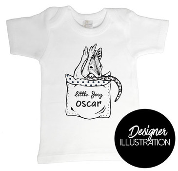 Little Joey Baby T-shirt by Karen Mitault