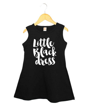 Little girl's little black dress