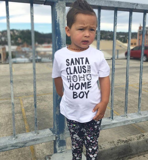 Santa Claus is my Homeboy tee by @thebarclayadventures