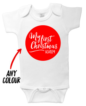My First Christmas Personalised Circle Onesie