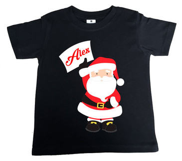 Personalised Name Santa Kids Tee