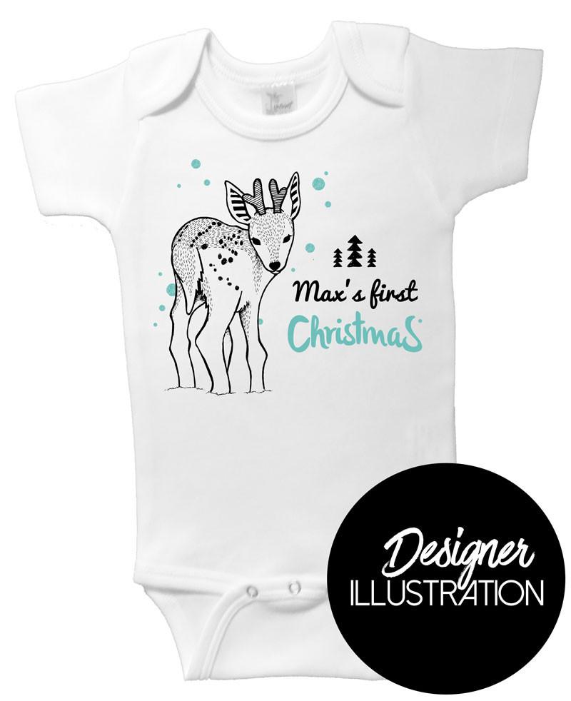 Personalised First Christmas Reindeer Onesie