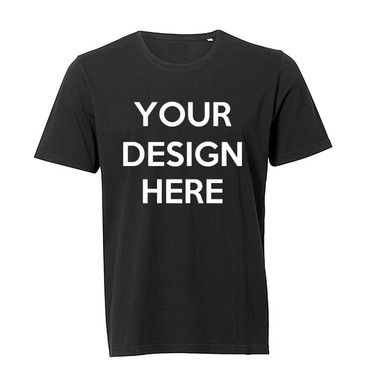 Design Your Own Men's Black Tee