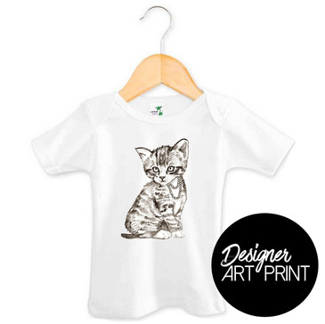 Pretty Kitty Art Baby T-shirt