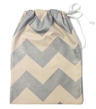 Silver chevron gift bag