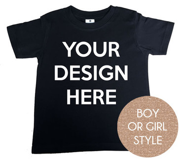 Design your own black kids tshirt