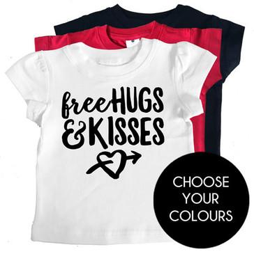 Free Hugs & Kisses Girl Tee