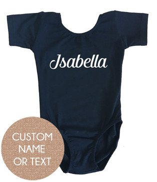 Personalised Name Black Leotard
