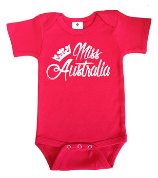 Red Miss Australia Onesie