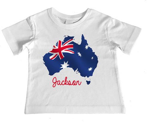 Personalised Australia Day Kids Tee Custom Printed