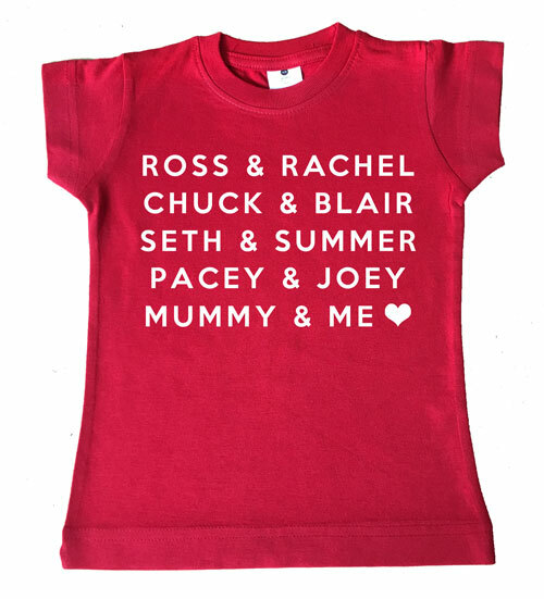 Famous Love Couples Tee - red