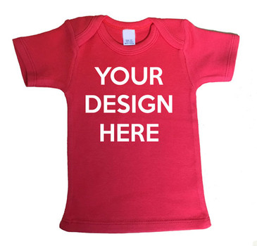 Custom printed red baby tee