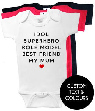 IDOL SUPERHERO ROLE MODEL BEST FRIEND MY MUM onesies