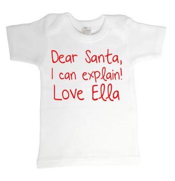 SALE Dear Santa Love Ella Tee - 3-6M