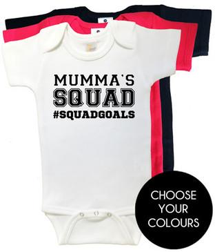 MUMMA'S SQUAD #SQUADGOALS onesies