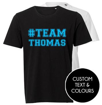 Personalised #TEAM NAME girl t-shirt for Mum