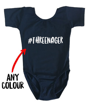 #THREENAGER black girl's leotard