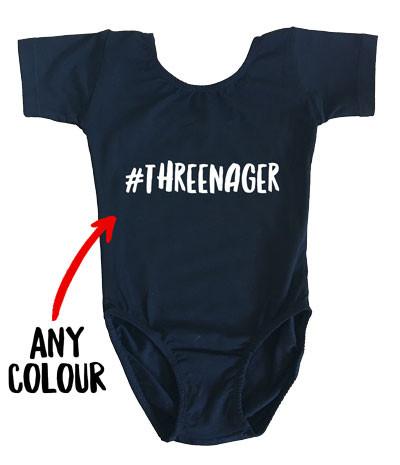 #THREENAGER black girl's leotard