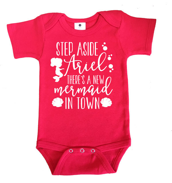 There's a new mermaid in town onesie - RED