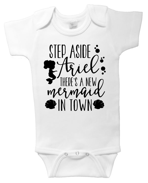 There's a new mermaid in town onesie - WHITE