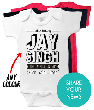 Introducing... Birth Announcement Onesie