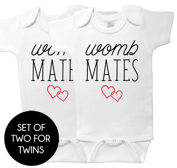 Womb Mates Twin Onesie Set