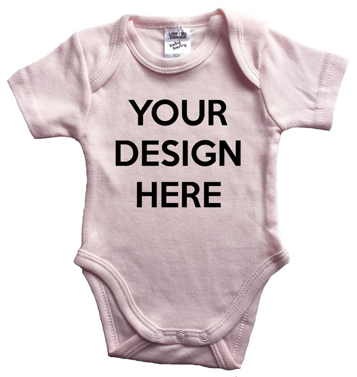 Design Your Own Custom Baby Pink Onesie