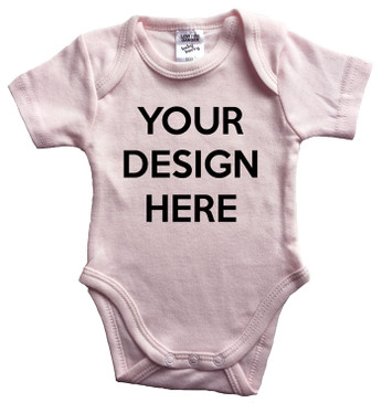 Design Your Own Custom Baby Pink Onesie