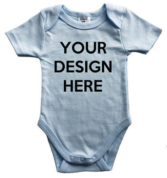 Design Your Own Baby Blue Onesie