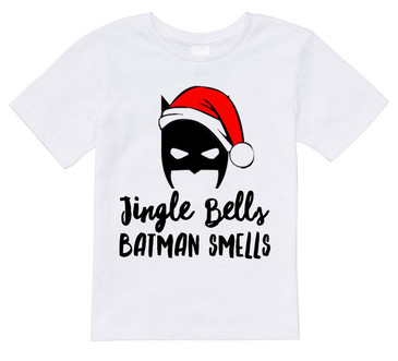 Jingle Bells BATMAN SMELLS kids tee