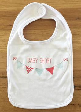 SALE Baby Short Bunting Bib