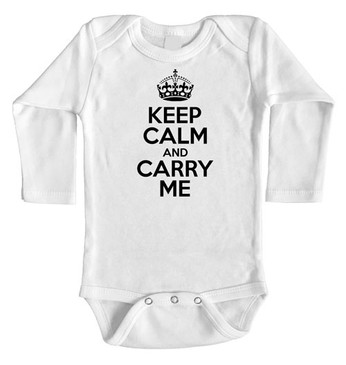 SALE Keep Calm and Carry Me long onesie - 3-6m
