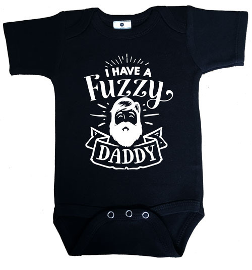 I have a fuzzy daddy onesie black