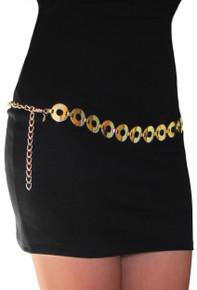 Classy Circle Gold Chain Belt
