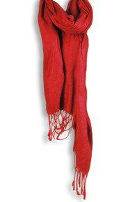 Pashmina Shawl in Red