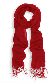 Red Lightweight Viscose Scarf