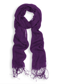 Purple Lightweight Viscose Scarf