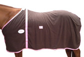 Check Choc Fleece Rug
