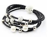 Leather Braided Black Bracelet