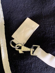 Removable webbing leg straps