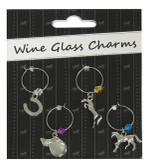 Wine Glass Horse Charms