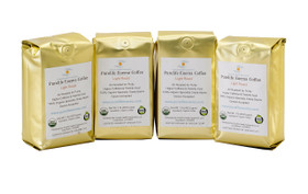 gold coffee bags Purelife Enema Coffee 100% certified organic Air Roasted
