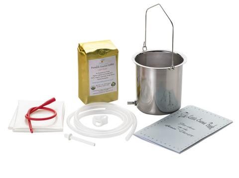 stainless steel enema bucket blue booklet light roast enema coffee silicone enema tubing red colon tube plastic sheet