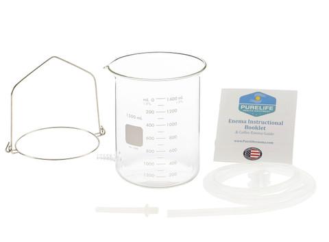 glass enema bucket silicone tubing enema bucket handle