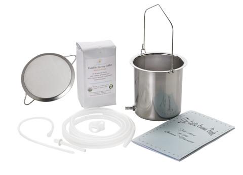 stainless steel enema bucket coffee enema strainer enema tubing coffee enema booklet silicone colon tube enema nozzle