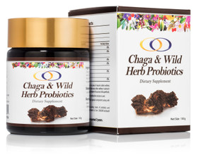 chaga and wild her probiotic optimally organic chaga probiotics